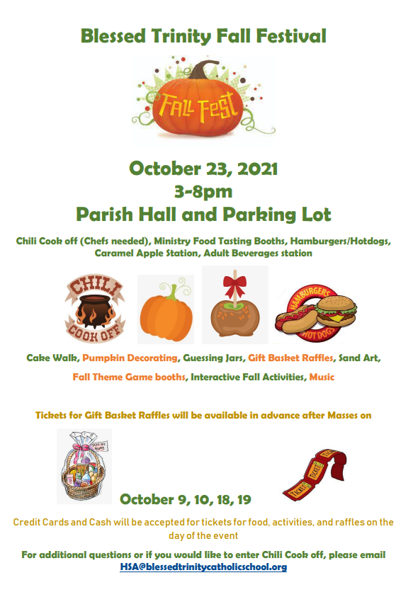 Save the Date October 23rd Fall Festival