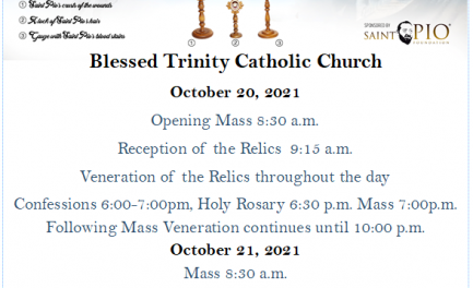 Coming Soon! – The Relics of Padre Pio